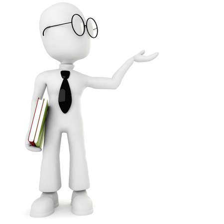 3d man holding a book Stock Photo - 8224255
