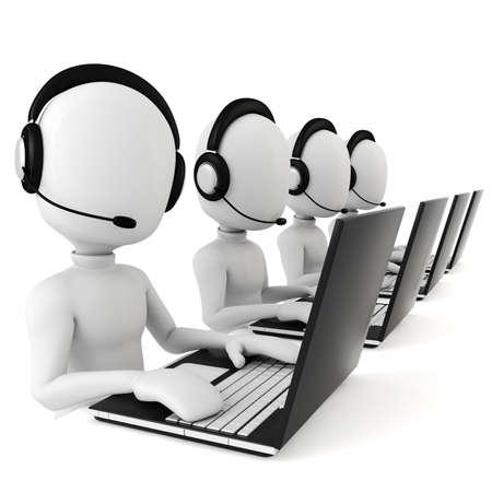 3d man - call center Stock Photo - 8161291