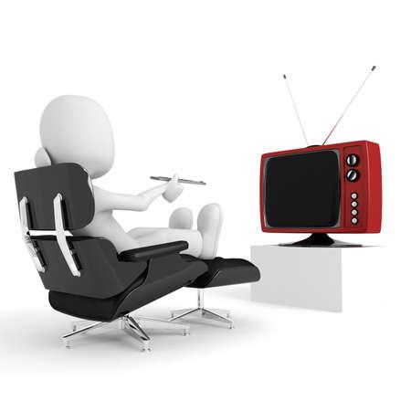 3d man watching tv photo