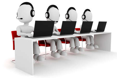 contact center: 3d man, call center