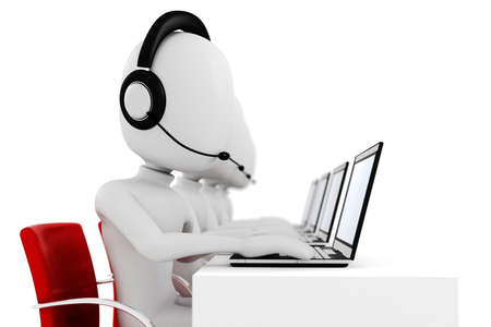 3d man, call center photo
