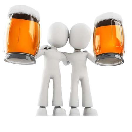 sediento: 3D hombre y cerveza