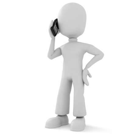 3d man speaking on the phone Stock Photo - 8164491
