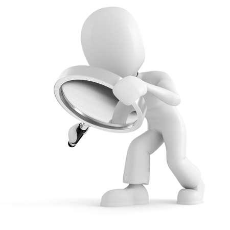 simbolo hombre mujer: hombre 3D que se sostiene un vaso de Ampliador