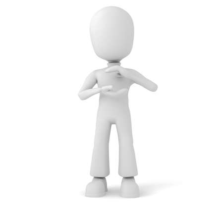 3d man holding immaginary object Stock Photo - 8164464