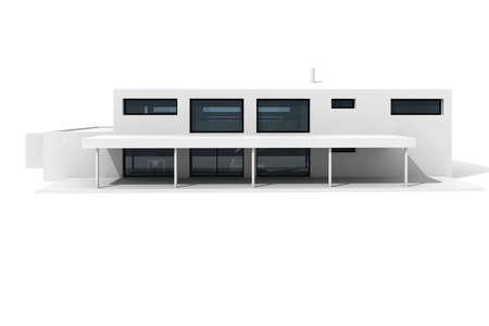 case moderne: 3D casa moderna, su sfondo bianco