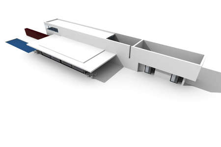 3d modern house, on white background Stock Photo - 8164528