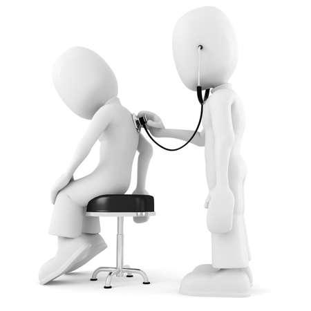 medical man: 3d man - medical exam Stock Photo