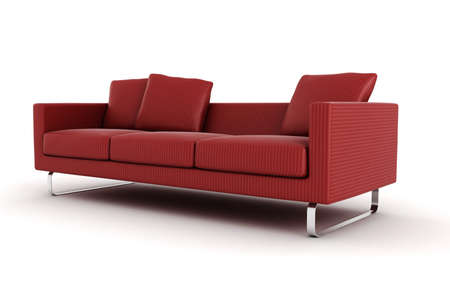 3d couch  isolated on white photo
