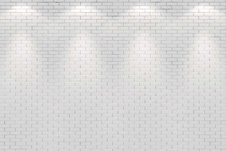 vlank room wall lit by four spot lights Stock Photo - 8164684
