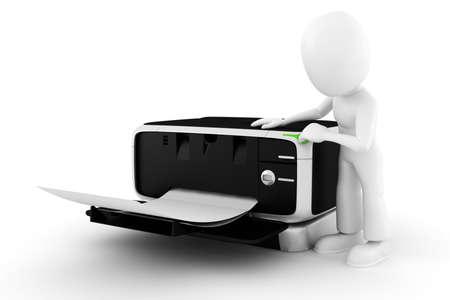 fotocopiadora: hombre 3D algunos documentos de impresi�n