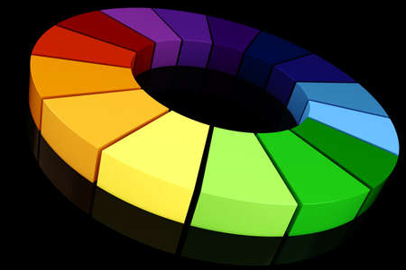 3d color wheel photo