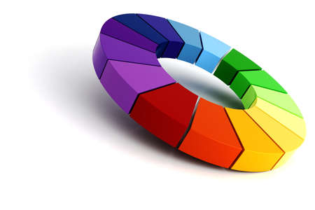 3d color wheel Stock Photo - 8164992