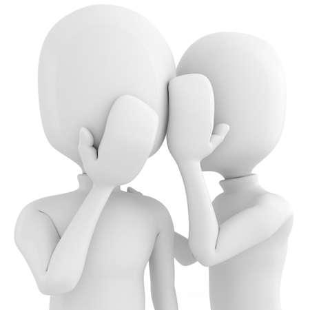 quiet adult: 3D uomo pu� � tenere un segreto? Archivio Fotografico