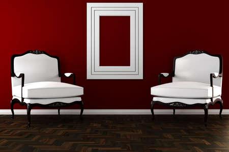 3d vintage armchair