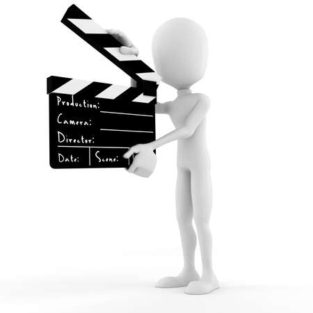 3d man director on stage, ACTION ! Stock Photo - 8165000