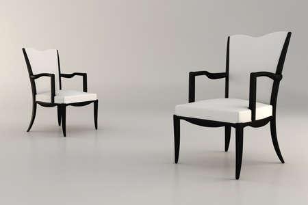 3d armchair, studio render photo