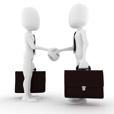 casual business meeting: 3d man businessman closing a deal