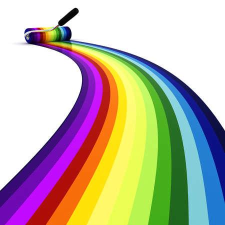 虹の彼方に 3 d のローラー