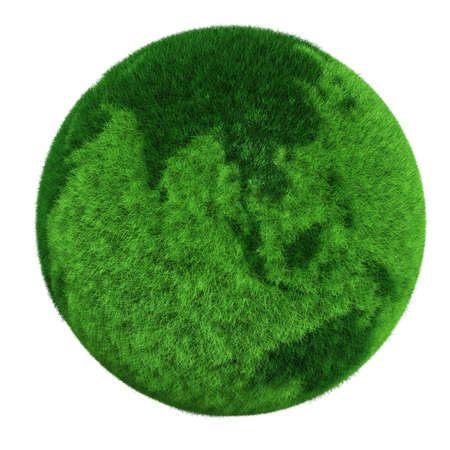 3d earth globe made of grass Stock Photo - 8164667
