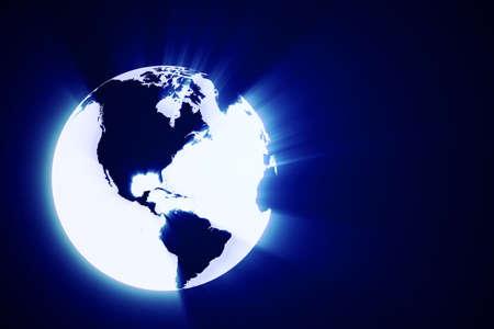 3d abstract shiny earth globe photo