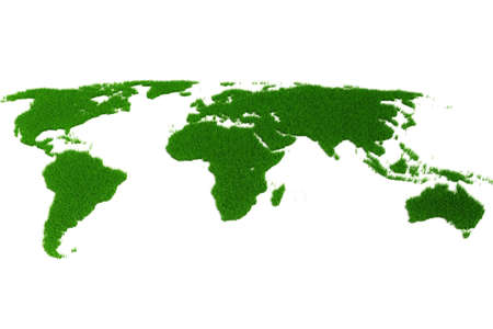 3d world map made of grass Stock Photo - 8164678