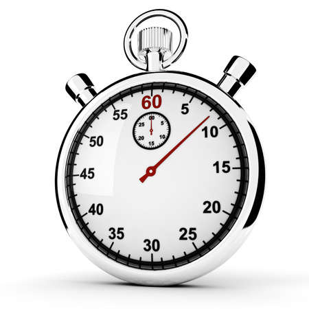 cronometro: 3D de concepto de cron�metro, aislado en blanco