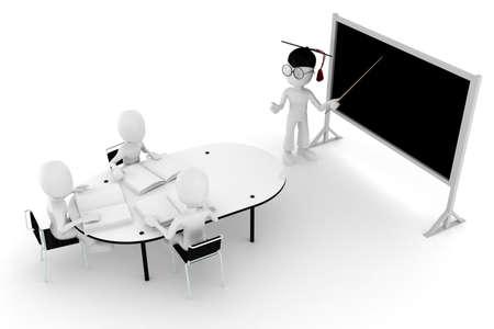 3d man classroom - teacher and students Stock Photo - 8475615