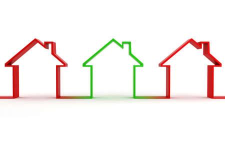 metaphor: 3d house shape metaphor Stock Photo