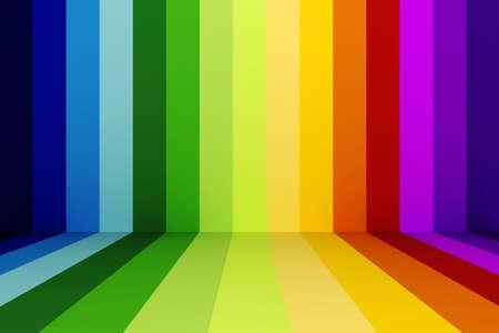3d rainbow abstracct background photo