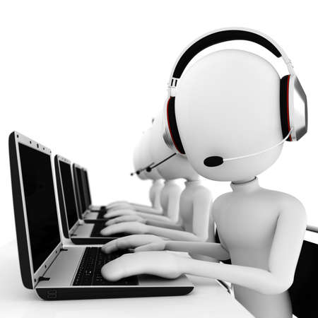 3d man call center photo