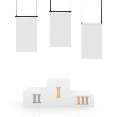 3d podium, isolated on white photo