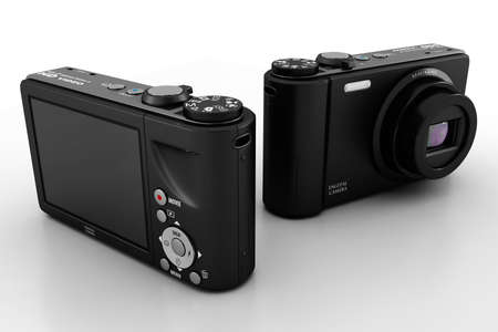 3d digital camera, studio render Stock Photo - 8475664