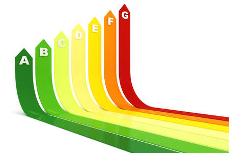 3d energy rating graph, on white background Stock Photo - 8489892