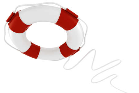 preserver: 3d life buoy, on white background