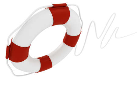 rubber ring: 3d life buoy, on white background