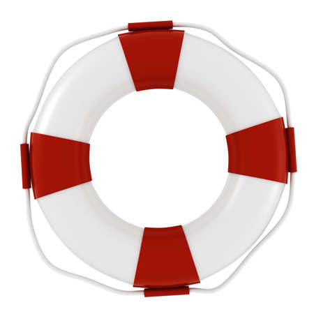saver: 3d life buoy, on white background