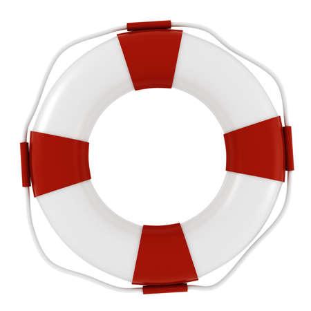 3D salvavidas, sobre fondo blanco