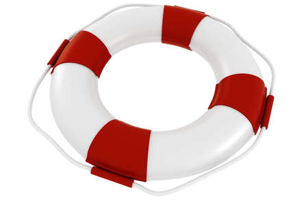 life ring: 3d life buoy, on white background
