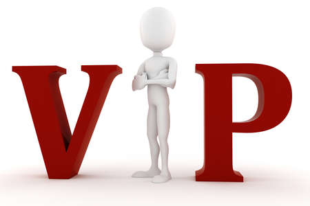 3d man VIP isolated on white background photo