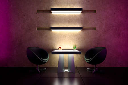 3d bar intimate atmosphere and interior design Stock Photo - 8557830
