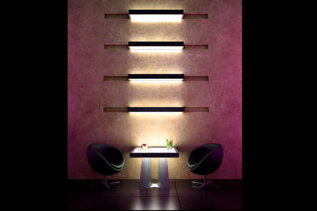 3d bar intimate atmosphere and interior design photo