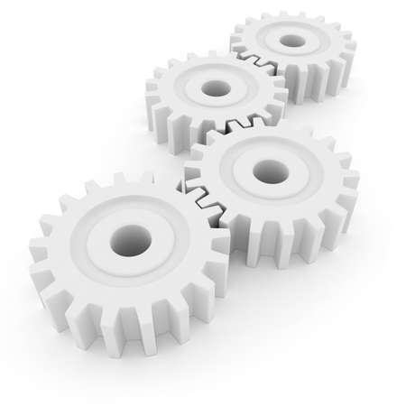 3d gear wheel isolated on white background Stock Photo - 8634335