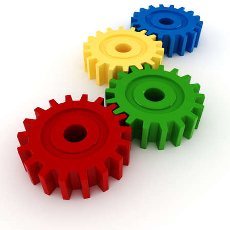 3d gear wheel isolated on white background Stock Photo - 8634341