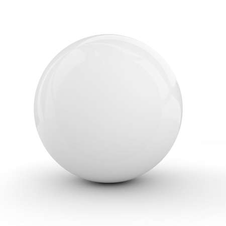 plastic art: 3d white sphere isolated on white