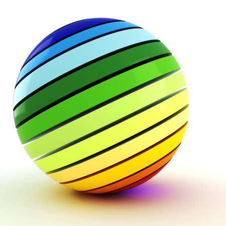 3d colorful ball, on white background photo