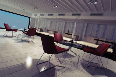 3d lounge render, interior design photo