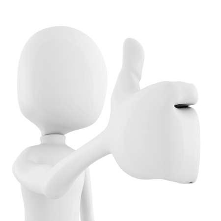 3d man thumb up ! Stock Photo - 8805698