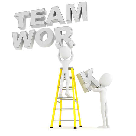 3d man team work photo