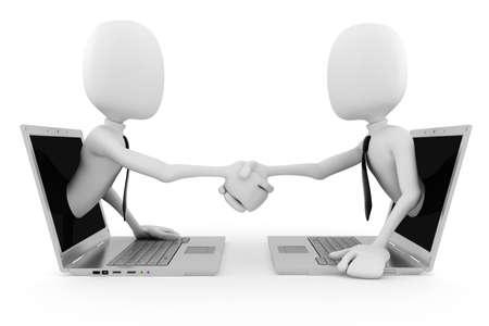 worldwideweb: 3D uomo World Wide Web business concetto